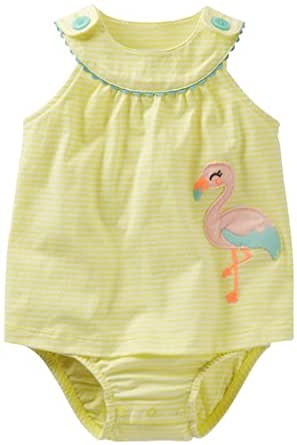 Carter's Striped Sunsuit (Baby) - Flamingo-18 Months