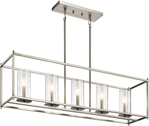 (Kichler Lighting 43995NI Chandelier, Brushed Nickel )