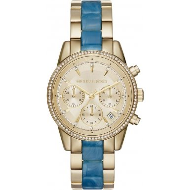 Michael Kors MK6328 Ladies Ritz Gold Chronograph Watch