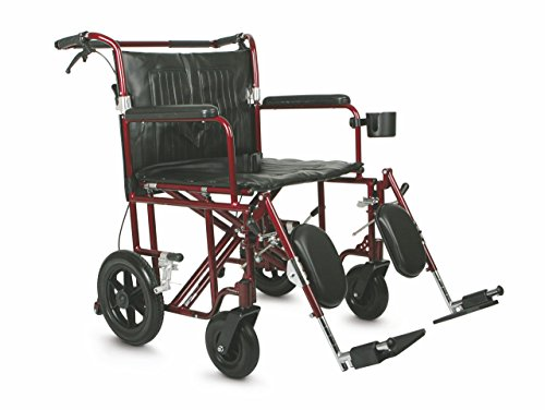 (Medline Heavy Duty Bariatric Transport Chair, Extra Wide 22