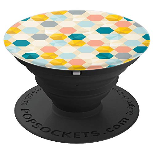 Honeycomb Fractal Pattern Cute Bee Lover - PopSockets Grip and Stand for Phones and Tablets