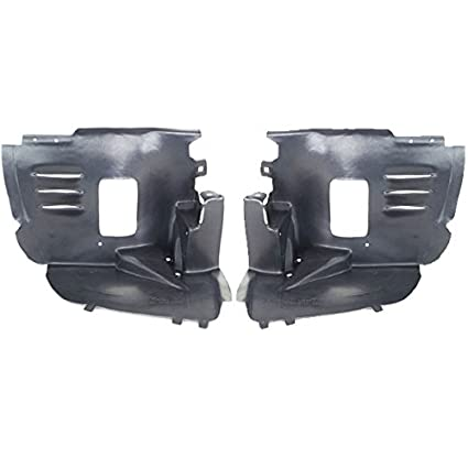 08-11 C-Class Sedan Front Splash Shield Inner Fender Liner Left /& Right SET PAIR