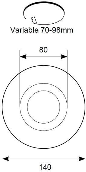 Ansell White Downlight Hole Convertor Downlight Kit