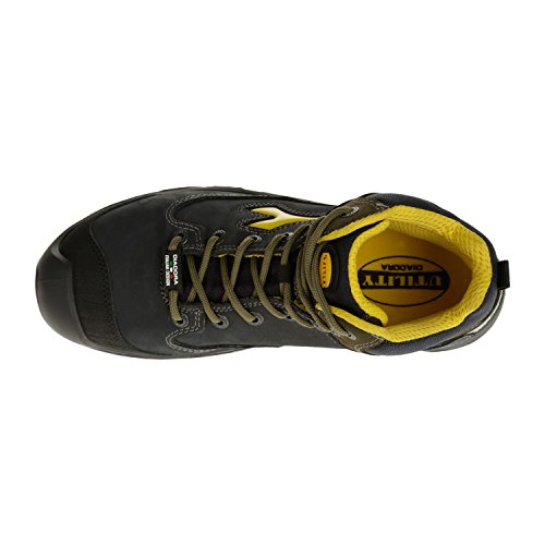 Diadora Continental Ii High S3, Zapatos de Trabajo Unisex Adulto negro