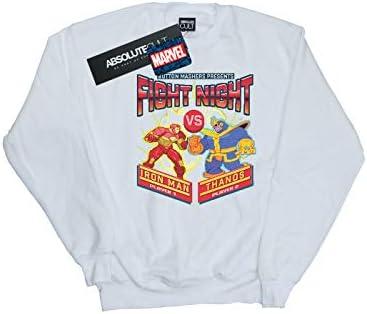 Marvel Herren Fight Night Iron Man Vs Thanos Sweatshirt Weiß XXX-Large