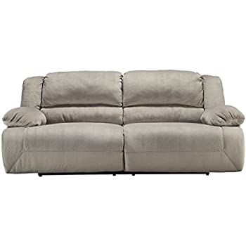 Ashley Furniture Signature Design   Toletta Reclining Sofa   2 Seat  Upholstered Couch Recliner   Granite