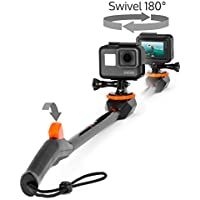 Spivo 360, New 20 Inch Waterproof Swivel Selfie Stick for GoPro Cameras and Smartphones. The Only Rotating Pole to Capture Your Adventures From Every Angle (Waterproof, 2nd Generation, Black)