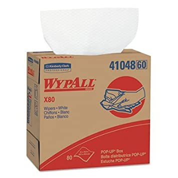Amazon.com: WypAll X80 Wipers, 9 1/10 x 16 4/5, White, 80 ...