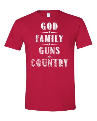 God. Family. Guns. Country. Adult T-shirt (X Large, (Country Adult T-shirt)