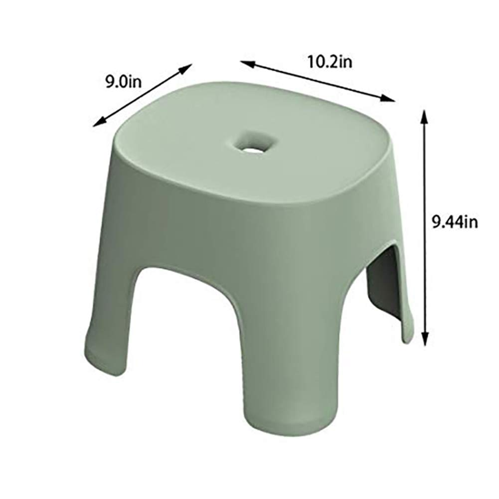 Small Potty Bench - Bathroom Anti-Slip Plastic Stool Foot Step Camping Stool Plastic Square Stool,Green by HB Toilet Stool