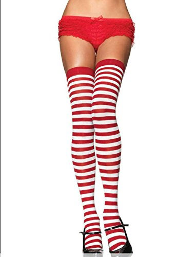 Striped Thigh Highs Leg Avenue Costume Thigh Highs