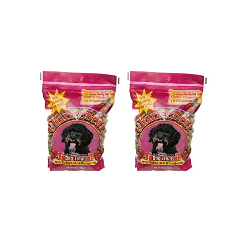 Liver Treats Turkey - Charlee Bear Dog Treats with Turkey Liver & Cranberries (2 Pack) 16 oz Each