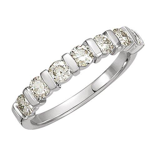 0.65 ct Ladies Round Cut Diamond 7 Stone Wedding Band in Platinum