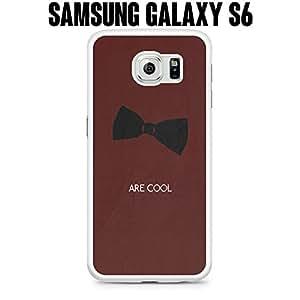 Teléfono Móvil Bow Ties Are Cool de plástico para Samsung Galaxy S6Edge SM-G925Blanco (buques de CA)