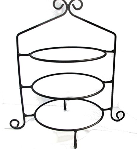 Iron Stand Wrought (Wrought Iron Pie Stand/Rack Triple Tier Hand Made)