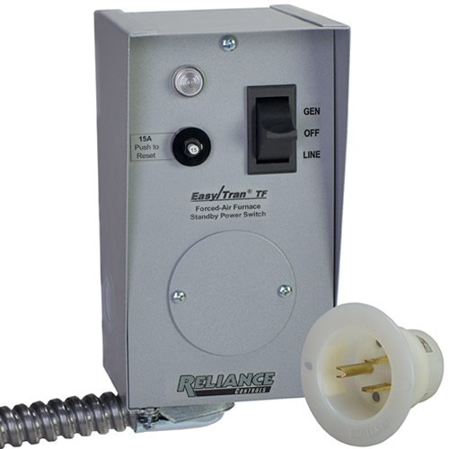 Reliance Controls Corporation TF201W Easy/Tran Transfer Switch for Generators Up to 2,500 Running Watts