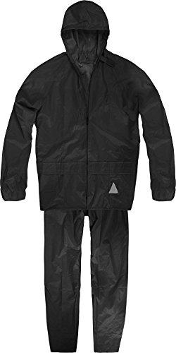 Unisex - Erwachsene Regenanzug (Jacke und Hose) - 100 % wasserdicht Farbe Schwarz Größe L
