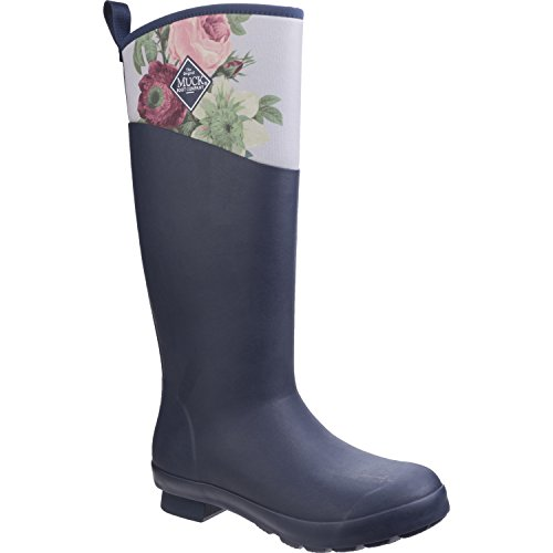 Muck Boot Dames Tremont Wellie Tall Snow Navy Grey Roses