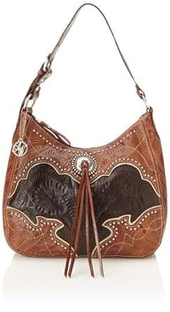 American West Heart Of Gold Large Shoulder Bag Shoulder Bag Brown/Black One Size