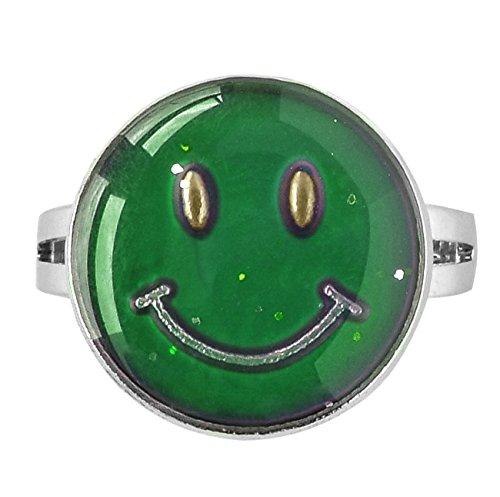 Arsmt Mood Rings Emoji Adjustable Smile Face Smiley Color Changing Emotion Feeling Ring]()