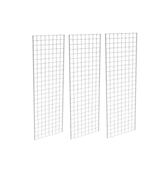 2' X 6' Gridwall Panels - 3 Pcs Box - Grid Wall Display White