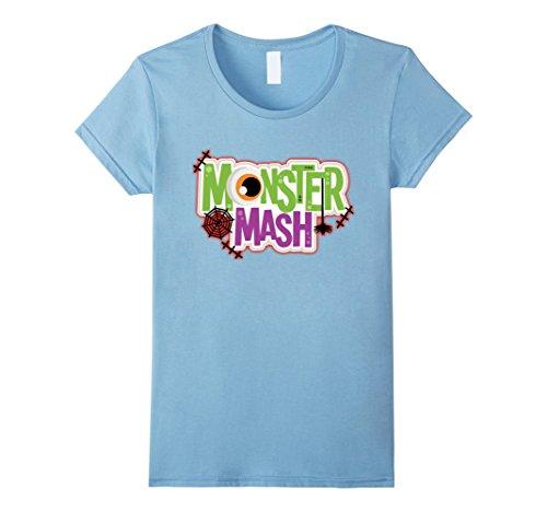 Homemade Baby Monster Costume (Womens Halloween Costume Shirt Monster Mash Cute Halloween Small Baby Blue)