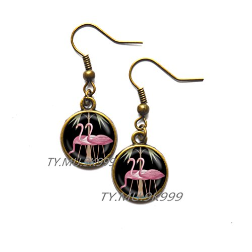 Yao0dianxku Pink Flamingo Earrings Florida Flamingo Stud Earrings Flamingo Jewelry Earrings Flamingo Bird Earrings Flamingo Bird Charm.Y041 (1)