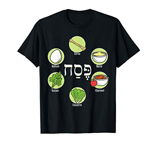 Seder Plate Passover Pesach Jewish Holiday TShirt