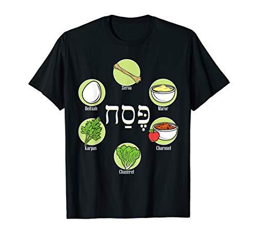 (Seder Plate Passover Pesach Jewish Holiday TShirt )