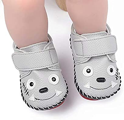 YWY Unisex Baby Boys Girls Shoes Sneakers Pre-Walkers Althetic Slippers Flats PU Leather Soft Ant-Slip Sole