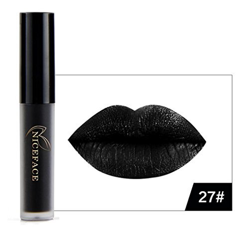 Lip Gloss, Lotus.flower New 9 Colors Halloween Style Lip Lingerie Matte Liquid Lipstick Waterproof Makeup (A)]()