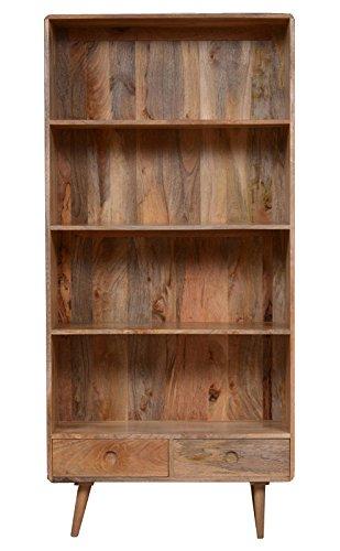Light Vintage Mango Bookcase Amazon Co Uk Kitchen Home