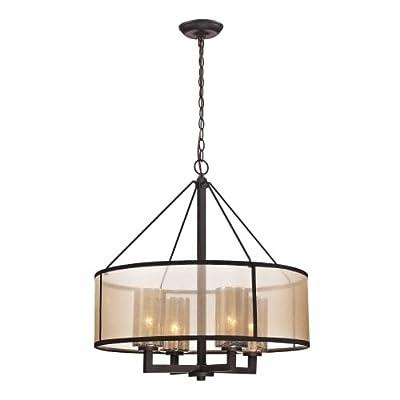 Elk Lighting 57027/4 Diffusion 4 Light 1 Tier Chandelier,