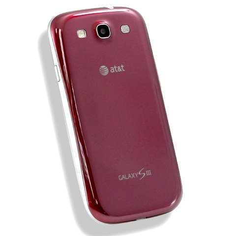 Original Genuine OEM Red Rear Back Battery Cover Door Replacement Fix For att Samsung i747 Galaxy ()