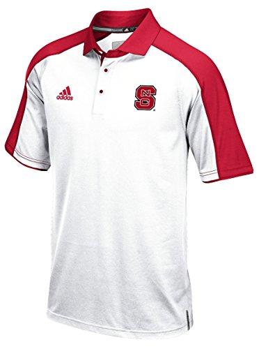 North Carolina State Wolfpack Adidas NCAA Sideline Climalite Polo Shirt - White (Sideline Shirt Polo Adidas)