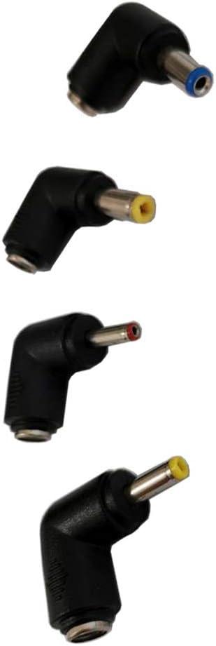 Liwinting CC ad Angolo retto Adattatore Universale per barilotto di Alimentazione 5,5 mm x 2,1 mm 3,5 mm x 1,35 mm di Spine CC da 5,5 mm x 2,1 mm Presa a 5,5 mm x 2,5 mm 4,0 mm x 1,7 mm
