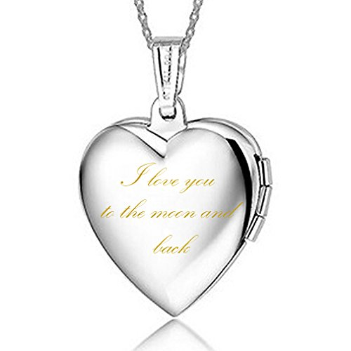IXIQI Heart Infinity Love Titianium Silver Plated Necklaces Locket for Women