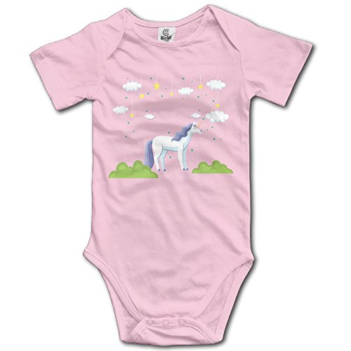 RainSea Baby's Unicorn and Stars Short-Sleeve Bodysuits - Flamingos Watch Online Pink