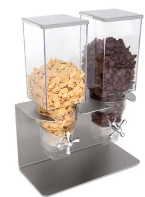 Compra Piazza Dispensador Dosificador Cereales Doble 2 x 3 LT Hotel Bar Restaurante en Amazon.es