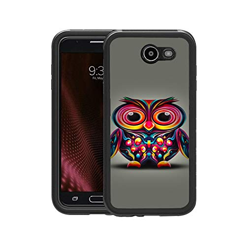 FIDIKO Hippie Cute Owl with Colorful Pattern Protective