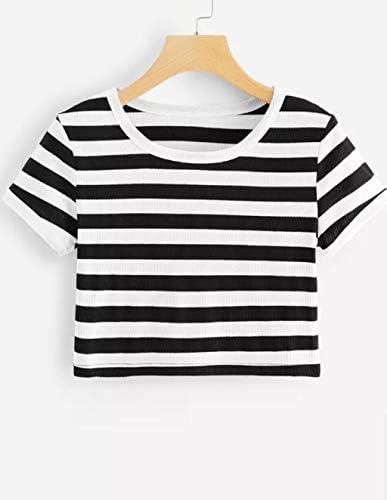Crop Tops Damen Sommer Teenager M/ädchen Herzschlag Herz Tie Up Bauchfrei Oberteile Mode Love You Casual Sport Baumwolle Blusen Shirt Hemd Kurzes Tank Top Frauen Kurzarm T-Shirt Sale