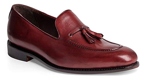 - Anthony Veer Men's Kennedy Tassel Loafer Leather Shoe with Side Lacing in Goodyear Welted Construction (13 D(M) US, Oxblood Full Grain Calfskin Leathe)