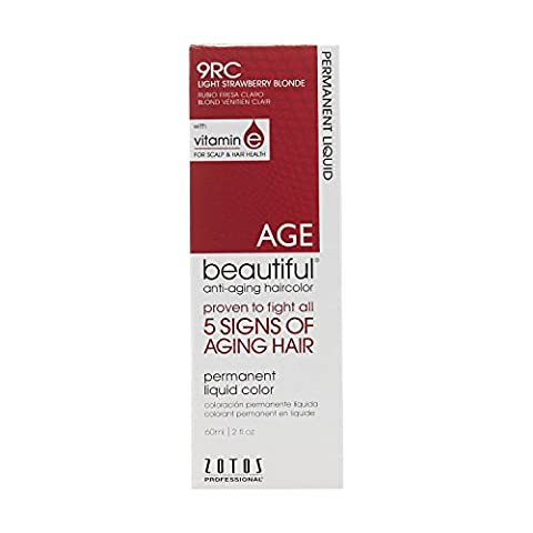 AGEbeautiful Anti-Aging Permanent Liquid Haircolor with Vitamin E 9RC Light Strawberry Blonde