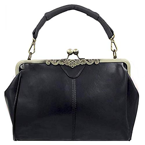 Shoulder Women Bag Bag Vintage Lock Handbag Purse Leather Imitation Minimalist Satchel Totes Retro Handnbag Kiss P Abuyall Rdzwq8T8