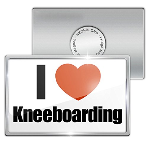"Fridge Magnet ""I Love kneeboarding"" - Neonblond"