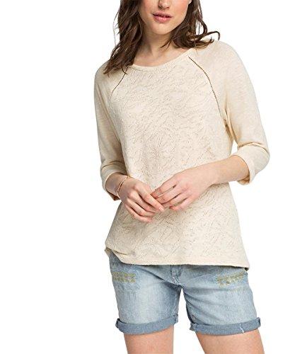 Esprit Aus Spitze - Camiseta de manga larga Mujer Blanco (Off White 110)