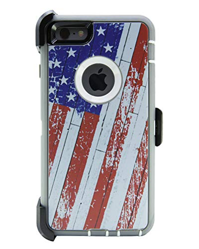 WallSkiN Turtle Series Cases for iPhone 6 Plus/iPhone 6S Plus (Only) Full Body Protection with Kickstand & Holster - 52 (American - Iphone 6 Otterbox Sports Case
