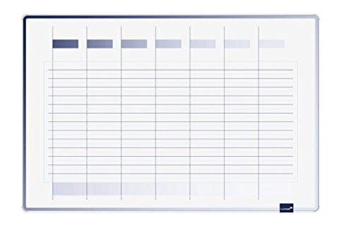 Legamaster Planungstafel Accents Linear Cool, Woche Planer für die Wochenplanung, 90 x 60 cm