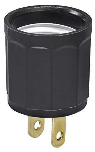 Socket Leviton Extensions (Leviton 007-61-BRN Brown Adapter Outlet To Socket)