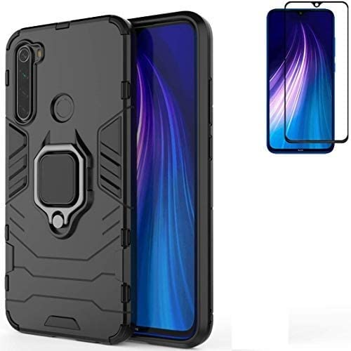 Amazon Com For Xiaomi Redmi Note 8 Redmi Note8 Case Hybrid Heavy Duty Shockproof Armor Dual Layer Protection Defender Back Case Cover For Redmi Note 8 Tempered Glass Screen Protector Black Electronics